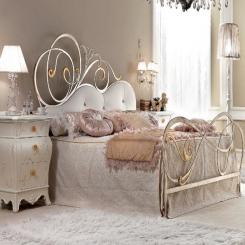 Кованая кровать КК129