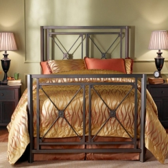 Кованая кровать КК131