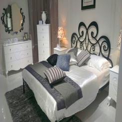 Кованая кровать КК132