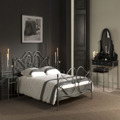 Кованая кровать КК104