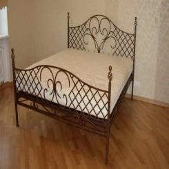 Кованая кровать КК137