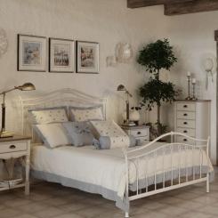Кованая кровать КК142