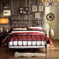 Кованая кровать КК105