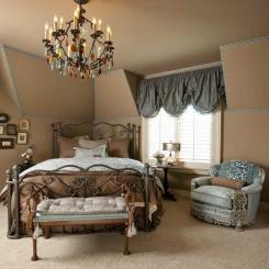 Кованая кровать КК198