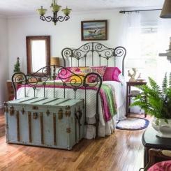 Кованая кровать КК204
