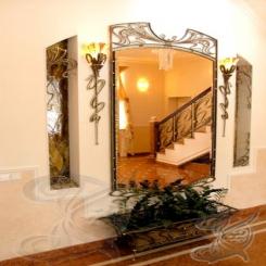 Кованое зеркало и светильники КЗ 6