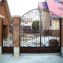 Кованые ворота распашные КВ 109