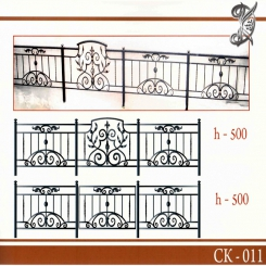 Кованая оградка КО 11