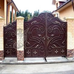 Кованые ворота распашные КВ 108