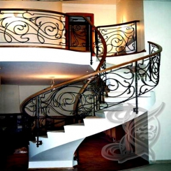 Кованая лестница белая КЛ 17
