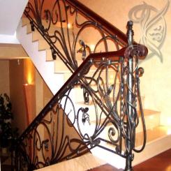 Кованая входная лестница КЛ 15