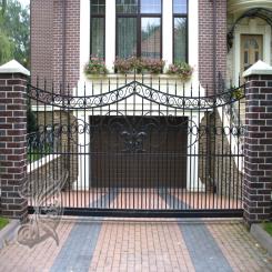 Кованые ворота откатные КВ 118