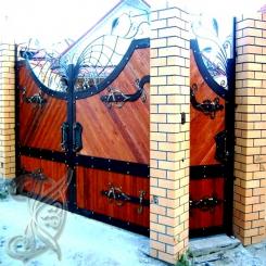 Кованые ворота распашные КВ 113