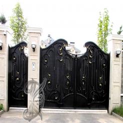 Кованые ворота распашные КВ 114