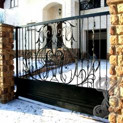 Кованые ворота откатные КВ 119
