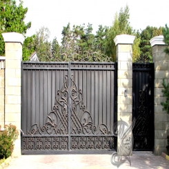 Кованые ворота откатные КВ 120