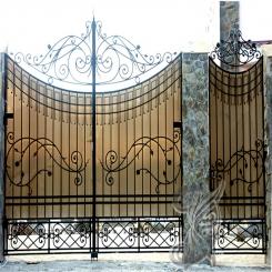 Кованые ворота распашные КВ 112