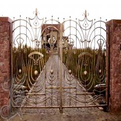 Кованые ворота распашные КВ 111