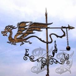 Кованый флюгер «Дракон» КФ 1