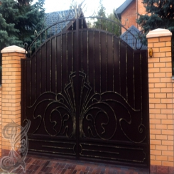 Кованые ворота откатные КВ 121
