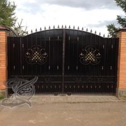 Кованые ворота распашные КВ 115