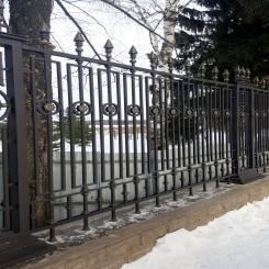Кованый забор КЗ 15