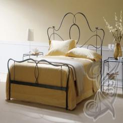 Кованая кровать черная КК 18