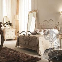 Кованая кровать бронза КК 19