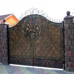 Кованые ворота КВ 35