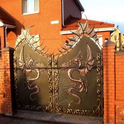 Кованые ворота распашные КВ 110