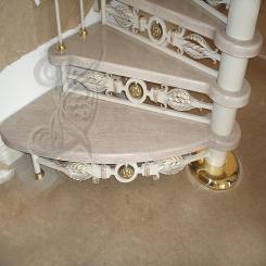 Кованая лестница элитная КЛ 10