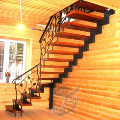 Кованая лестница с элементами КЛ 3