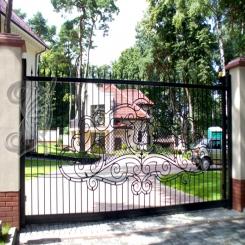 Кованые ворота откатные КВ 117