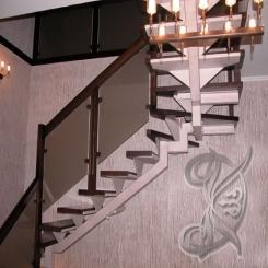Кованая лестница КЛ 1