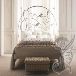 Кровать с кованым изголовьем КК 23