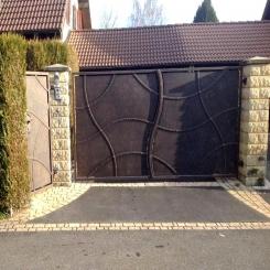 Кованые ворота КВ 39