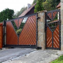 Кованые ворота КВ 41