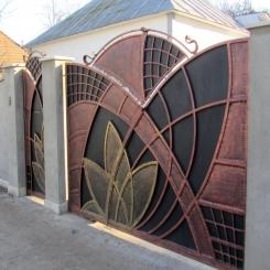 Кованые ворота КВ 42