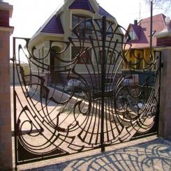 Кованые ворота КВ 43