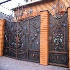 Кованые ворота КВ 44