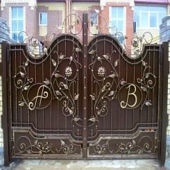 Кованые ворота КВ 55