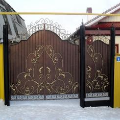 Кованые ворота КВ 56