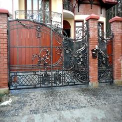 Кованые ворота КВ 61