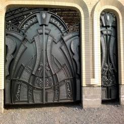 Кованые ворота КВ 74