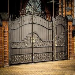 Кованые ворота КВ 22