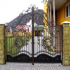 Кованые ворота КВ 77