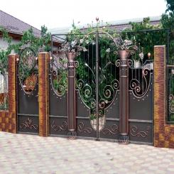Кованые ворота КВ 83