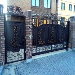 Кованые ворота КВ 84