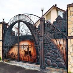 Кованые ворота КВ 88