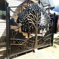 Кованые ворота КВ 89